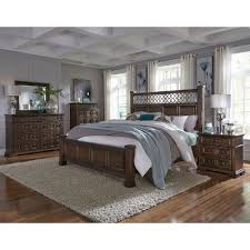 traditional cordovan brown 6 piece king bedroom set lucca rc