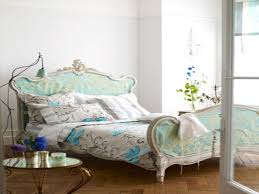french country platform bed floral pattern fabric upholstery