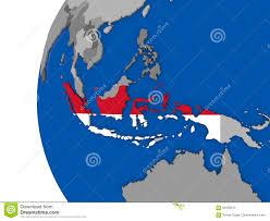 Indonesia On World Map Indonesia On Globe Stock Illustration Image 84456512