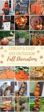 Outdoor Fall Decorating Ideas by 50 Cheap And Easy Diy Outdoor Fall Decorations Outdoor Fall
