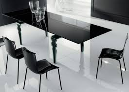 black glass kitchen table modern dining room furniture designers black glass table decobizz com