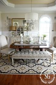 How Big Should Rug Be In Living Room 5 Rules For Choosing The Perfect Dining Room Rug Stonegable