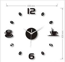 Unique Large Wall Clocks Large Wall Clocks Diy Kitchen Wall Clock Coffee Watch Numbers