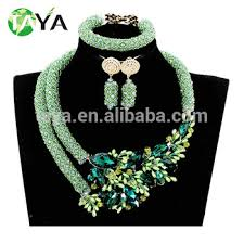 beads jewelry necklace images Latest design african beads jewelry sets nigeria beads necklace jpg