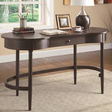 kidney bean shaped table cappuccino finish kidney bean shaped writing desk by coaster
