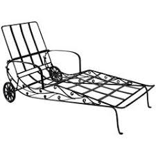 Wrought Iron Chaise Lounge Vintage Iron Chaise Lounge By Salterini At 1stdibs