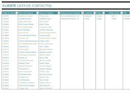 lista de contactos de clientes office templates