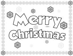 merry christmas coloring pages that say merry christmas