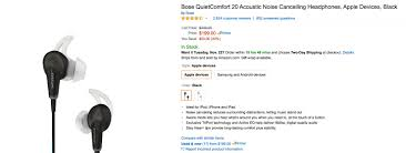 black friday bose headphones great deal bose quietcomfort 20 sale 199 for quality noise