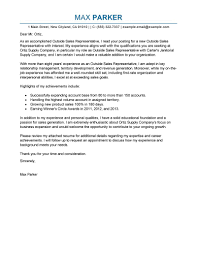 medical device sales cover letter examples epic sales