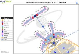 seoul incheon international icn airport terminal maps