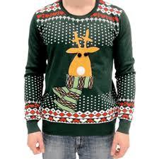 light up sweater green reindeer sweater