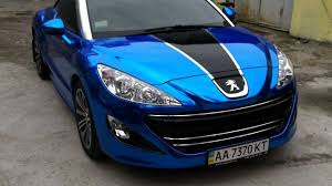 pijot car peugeot rcz blue chrome car wrap youtube