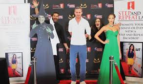 halloween trade show booth backdrop step and repeat lastep and