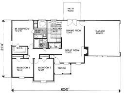 ranch style house plan 3 beds 2 00 baths 1208 sq ft plan 30 120