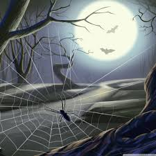 halloween lightning background spider web full moon hallowmas halloween hd desktop wallpaper