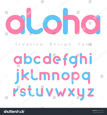 Pink Color Font Vector Blue Pink Color On Stock Vector 402117985 Shutterstock