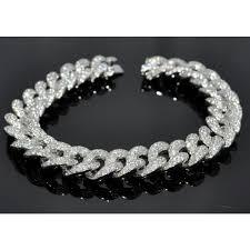 white gold bracelet with diamonds images Bracelet mens custom made cuban link curb link 10k solid white jpg