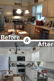 Kitchen Cabinet Refacing Before And After 196 Best Kitchen Transformations Images On Pinterest Kitchen