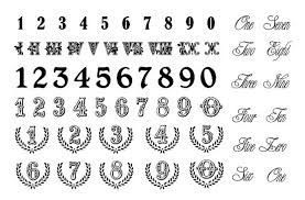 number tattoo tattoo collections
