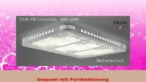 Wohnzimmerlampe Fernbedienung Stylehome Led Energiespar Deckenlampe Wandlampe 90w Helligkeit