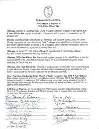 proclamations u2014 2020 a year without war