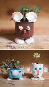upcycled seashell mini planters handmade charlotte