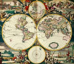 World Map Poster With Pins by Four Hemisphere World Map Image Taken From Nova Totius Terrarum