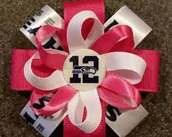seahawk ribbon seahawks pink etsy