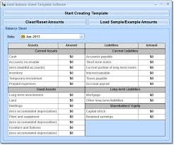 Excel Balance Sheet Template Free Excel Balance Sheet Template Software 7 0