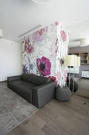 Modern Floral Wallpaper Floral Wallpaper Interior Design Ideas