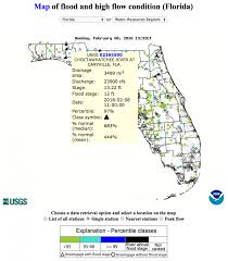 Florida On The Map by Dec 2015 Thru 2016 Streamflow And Flood Data Maps