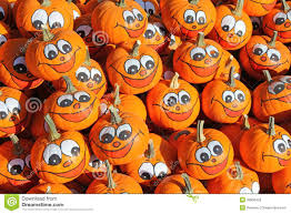 happy thanksgiving smiley face smiley faces painted on fresh pumpkins stock photo image 38836403