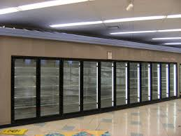 sliding glass door fridge walk in cooler glass doors
