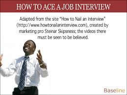 how to ace a job interview business intelligence news