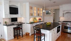 What Color Should I Paint My Kitchen With White Cabinets White Kitchen Cabinets With Marble Countertops Monsterlune