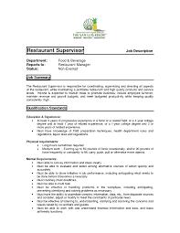 resume examples for restaurant restaurant duties resume resume for your job application restaurant manager duties for resume best resume sample ski8