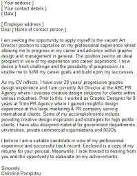 cover letter sample for graphic designer web graphic designer