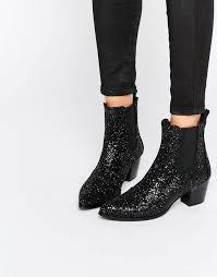 womens boots kurt geiger kg by kurt geiger razzle glitter heeled ankle boots black