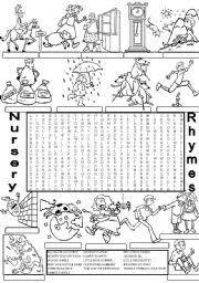 worksheet wordsearch nursery rhymes