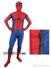 2017 spider man homecoming cosplay costume 3d printed spiderman
