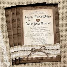 burlap and lace wedding invitations rustic burlap and lace wedding invitation wood twine