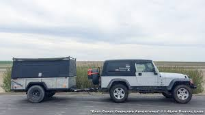 jeep camping trailer enclosed m101 overland camping trailer budget build trailers