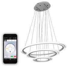 Remote Controlled Chandelier Thebe 3 Tier Color Changing Led Chandelier White Modern