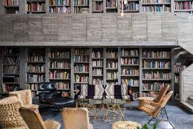 Home Interior Mexico by The Library In Pedro Reyes And Carla Fernandez U0027s Brutalist House