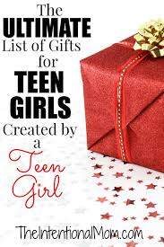 the ultimate list of gifts for teen girls the intentional mom