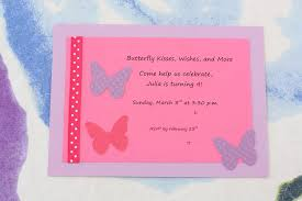 butterfly themed birthday party invitations home party ideas