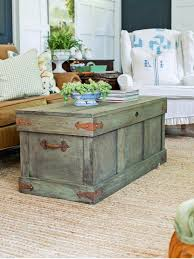 Style A Coffee Table How To Construct A Rustic Trunk Style Coffee Table Hgtv