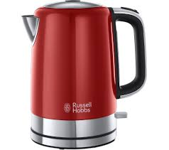 Red Kettle And Toaster Buy Russell Hobbs Windsor 22821 Jug Kettle Red Free Delivery