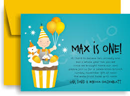 Baby Boy First Birthday Invitation Cards Classic Kids Party Invites Doc Milo Wedding U0026 Bridal